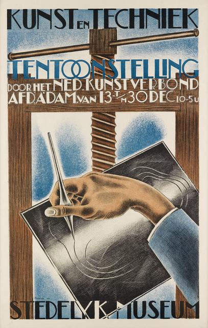 Henk A. Henriet, 'KUNST EN TECHNIEK / TENTOONSTELLING', 1930, Swann Auction Galleries