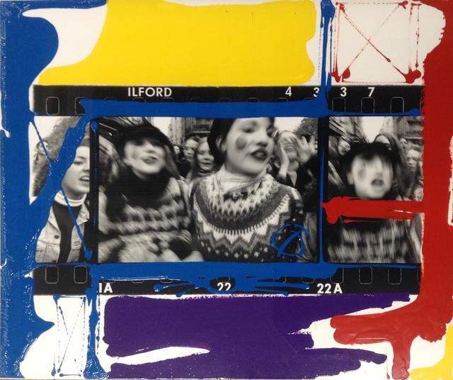 William Klein, 'Manif Lycéens, Paris', 1995, Painting, Enamel on contact sheet, Akio Nagasawa Gallery