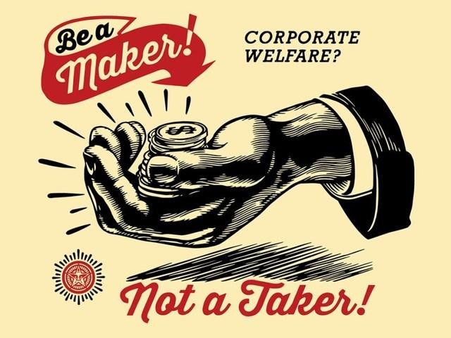 , 'Corporate Welfare,' 2015, AYNAC Gallery