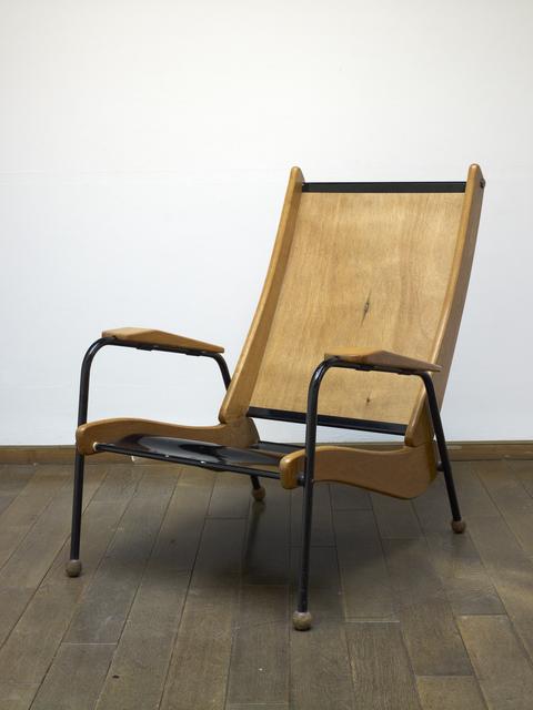 """Jean Prouvé, '""""Visiteur"""" Armchair', ca. 1950, Design/Decorative Art, Steel and wood, Jousse Entreprise"""