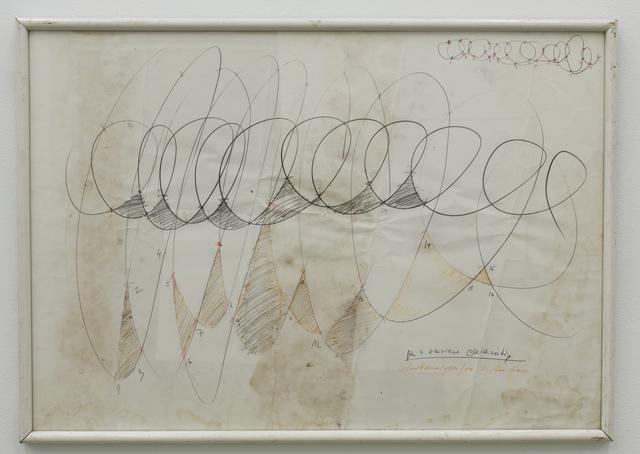 , 'Spiralkonstruktionszeichnung für Musikalischer Affe II / Gedächtnis und Musik ,' 1990, Galerie Crone