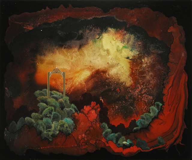 Hedieh Javanshir Ilchi, 'Through the first gate, into our first world 1', 2019, Painting, Acrylic and watercolor on panel, Hemphill Artworks