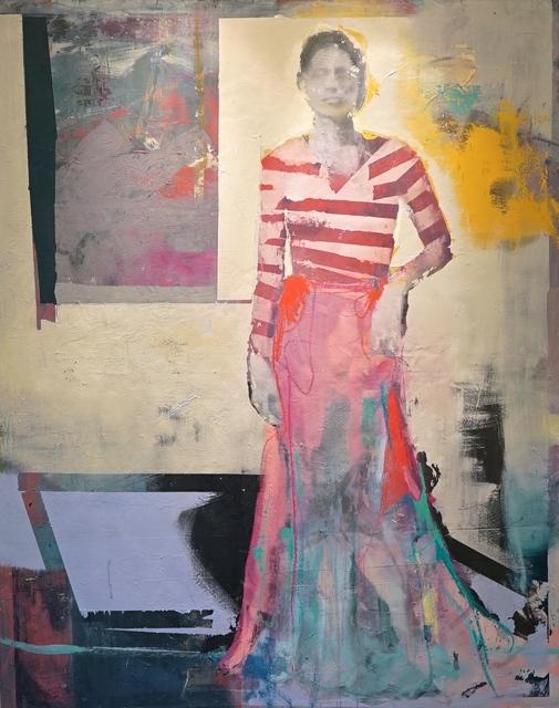 , 'Mädchen am Fenster,' 2018, Galerie Schimming