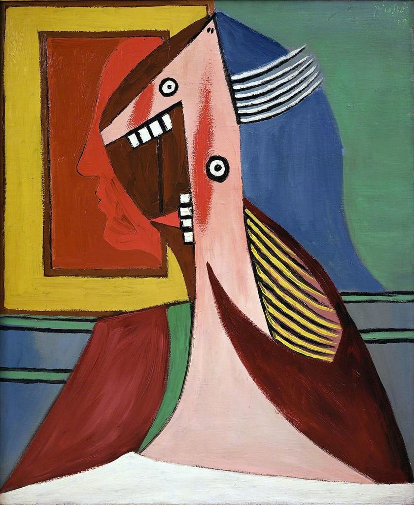 Pablo Picasso | Buste de femme avec autoportrait | Artsy
