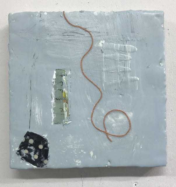 Amy Weil, 'Loopy', 2020, Painting, Encaustic and collage with string, 440 Gallery