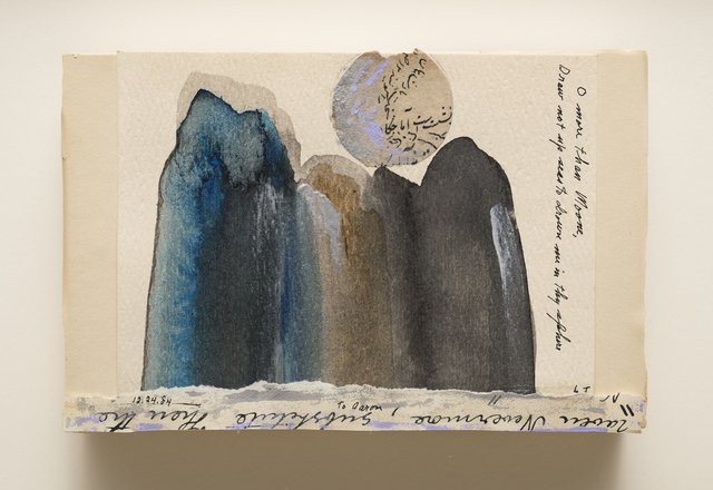 Lenore Tawney, 'Untitled (Moon)', 1984, Drawing, Collage or other Work on Paper, Mixed media on paper mounted on paper box, Aaron Payne Fine Art