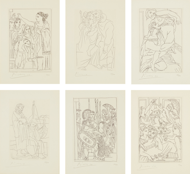 Pablo Picasso, 'Lysistrata', 1934, Print, The complete set of six etchings, one with aquatint, on Arches paper, with full margins., Phillips