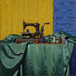 , 'Antique Sewing Machine & Moire,' 2013, Gallery Henoch