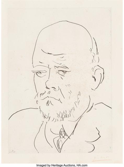 Pablo Picasso, 'Portrait de Vollard III, from La Suite Vollard', 1937, Heritage Auctions