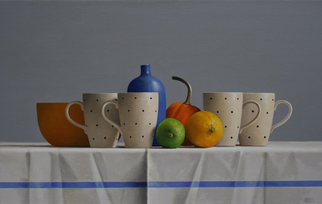 , 'Four Polka Dot Cups,' 2016, Gallery Henoch