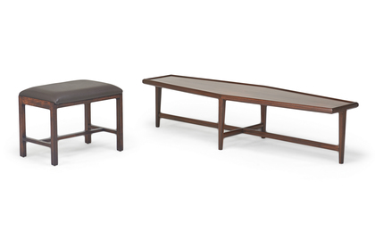 Edward Wormley; Dunbar Coffee Table and Bench