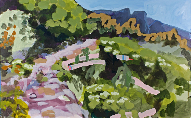 , 'Four Mile Trail 1 (Soft Animal in Pink & Turquoise Stripes),' , G. Gibson Gallery