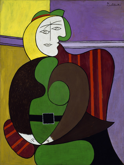 Pablo Picasso, 'The Red Armchair', 1931, Painting, Oil and ripolin on panel, Art Institute of Chicago
