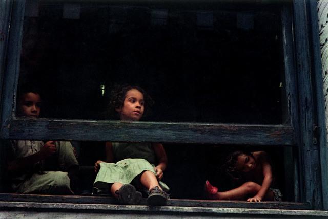 Helen Levitt, 'N.Y.C. (girls in window)', 1959, Laurence Miller Gallery