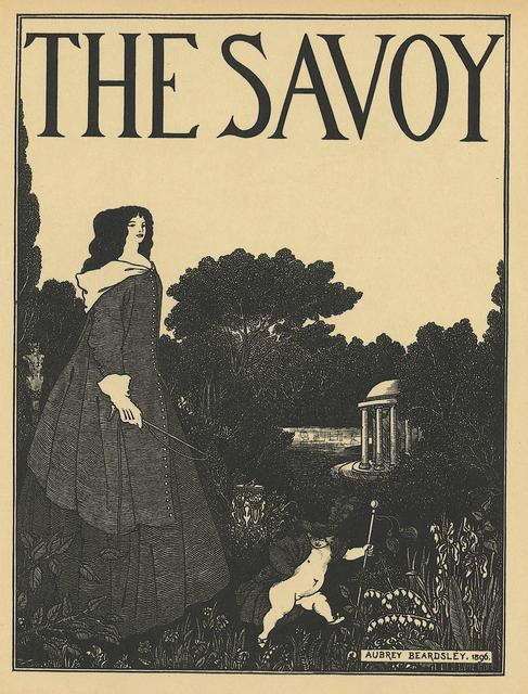 Aubrey Beardsley, 'Cover design for No. 1 of The Savoy, printed in A Book of Fifty Drawings, by Aubrey Beardsley', ca. 1897, Print, Book page, Heroes Gallery