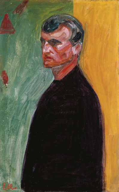 , 'SELF-PORTRAIT AGAINST TWO-COLOURED BACKGROUND,' 1904, Leopold Museum