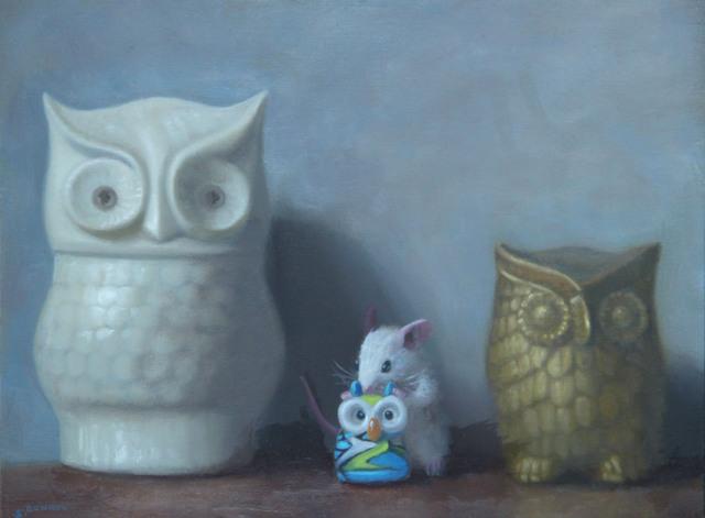 Stuart Dunkel, 'Owl Family Portrait', 2019, Shain Gallery