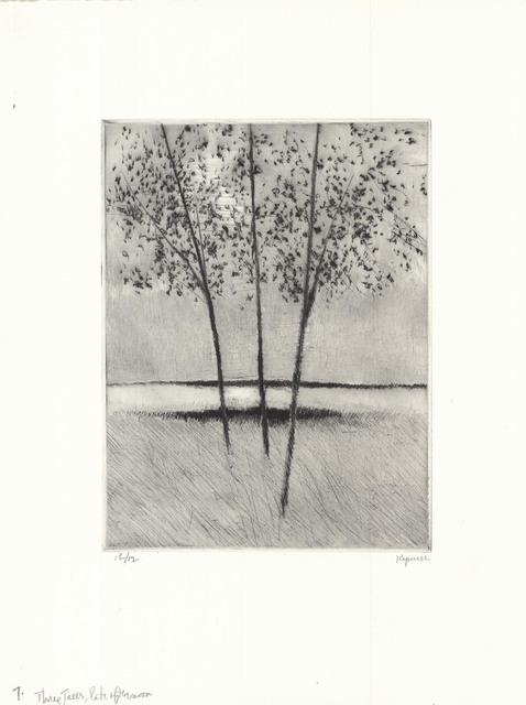 Robert Kipniss, 'Three trees, late afternoon.', 2018, The Old Print Shop, Inc.