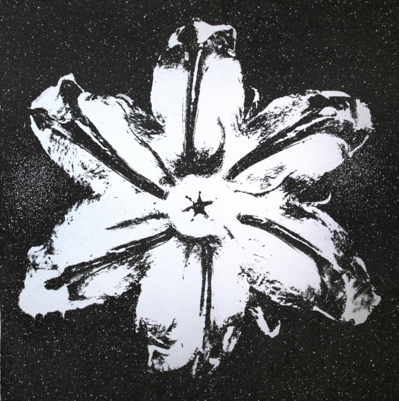 Rubem Robierb, 'Power Flower (Silver on Black)', 2016, Octavia Art Gallery