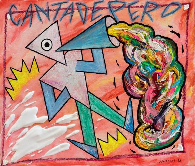 Bruno Donzelli, 'CantaDepero', 1988, Mixed Media, Enamel on canvas, Finarte