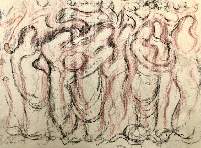 Sheikh Mohammad Sultan, 'Untitled ', 1960s, Drawing, Collage or other Work on Paper, Mixed media on paper, Eye For Art Houston