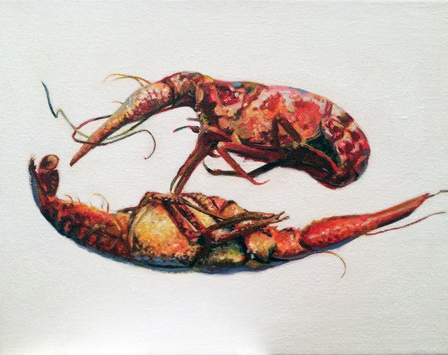 , 'Two Crawfish,' 2016, BoxHeart