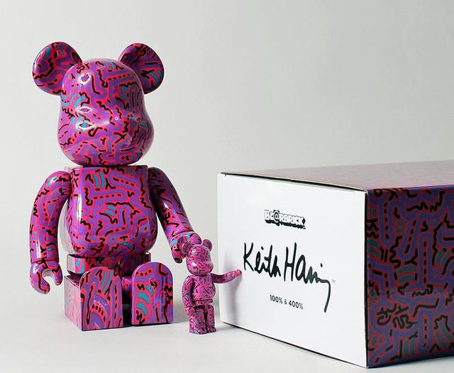 Keith Haring, 'Keith Haring Bearbrick 400% & 100% (Haring BE@RBRICK)', 2018, Lot 180