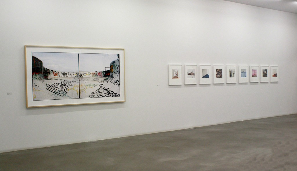 Installation shot of Brian Howell's photographs