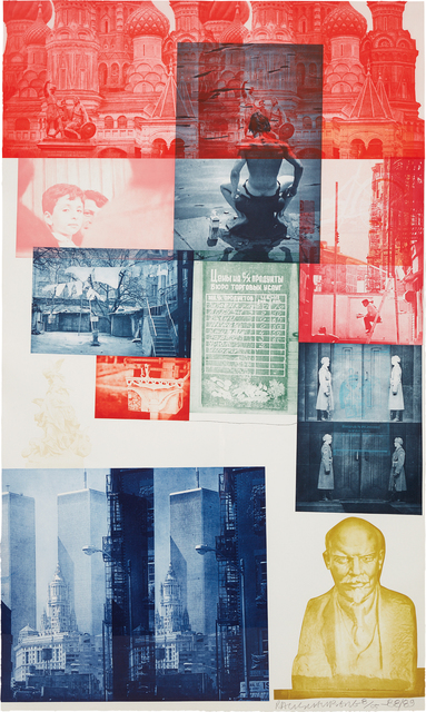 Robert Rauschenberg, 'Soviet American Array #1', 1988-1989, Print, Etching in colors with collage, on Saunders and Oriental rice paper, the full sheet, Phillips
