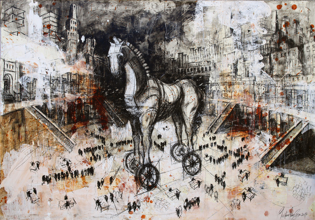 , 'Arde Troya, arde!,' 2017, Victor Lope Arte Contemporaneo