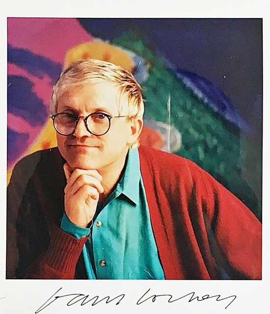 David Hockney, 'Hand Signed Color Photograph from the Estate of Hollywood Director Paul Bartel', ca. 1987, Alpha 137 Gallery Gallery Auction