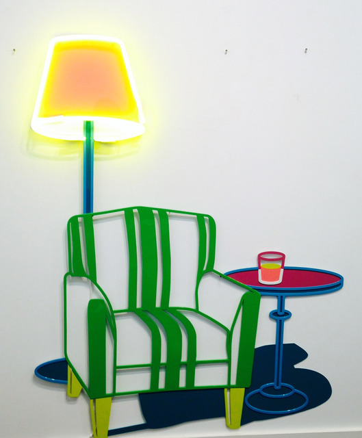 , 'Armchair with table and lamp,' 2013, Sullivan+Strumpf