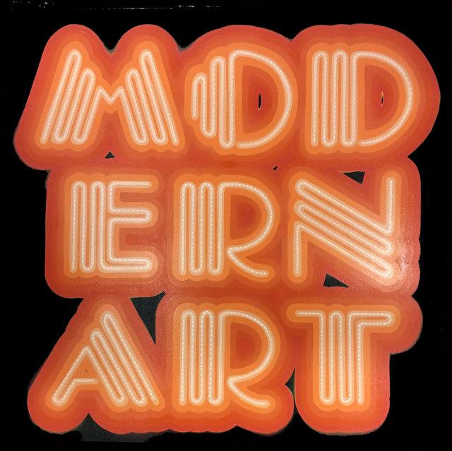 , 'Modern Art Neon Font,' 2017, Charlie Smith London