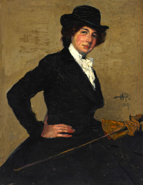 , 'Portrait of Mrs Ethel Solomon in Riding Habit ,' 1909, Ben Uri Gallery and Museum