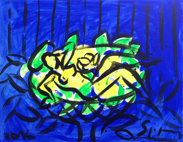 , 'Lemon Bowl on Blue,' 2016, Galerie Kellermann