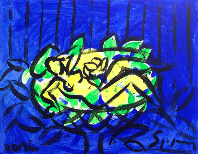 , 'Lemon Bowl on Blue,' 2016, Galerie Kellermann