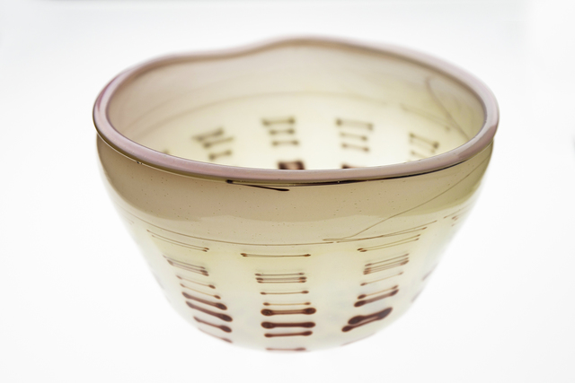 Dale Chihuly, 'Beige Tabac Basket with Oxblood Stripes', 1977, Modern Artifact