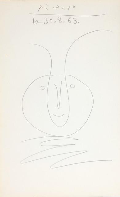 Pablo Picasso, 'Tête de faune', ca. 1963, BAILLY GALLERY