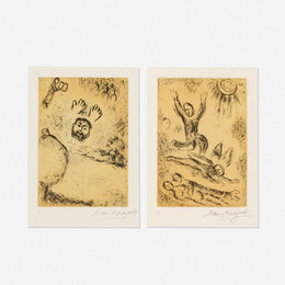 Marc Chagall, 'Etching 12, Psalm 25 and Etching 24, Psalm 77 (two works from The Psalms of David),' 1979, Wright: Prints + Multiples (January 2017)