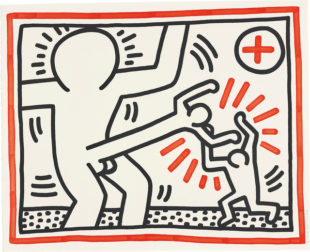 Keith Haring, 'Three Lithographs: one plate', 1985, Phillips