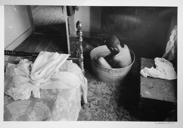 Constantine Manos, 'Untitled, Island Boy, Daufuskie Island, South Carolina (boy bathing, horizontal)', 1952, Robert Klein Gallery