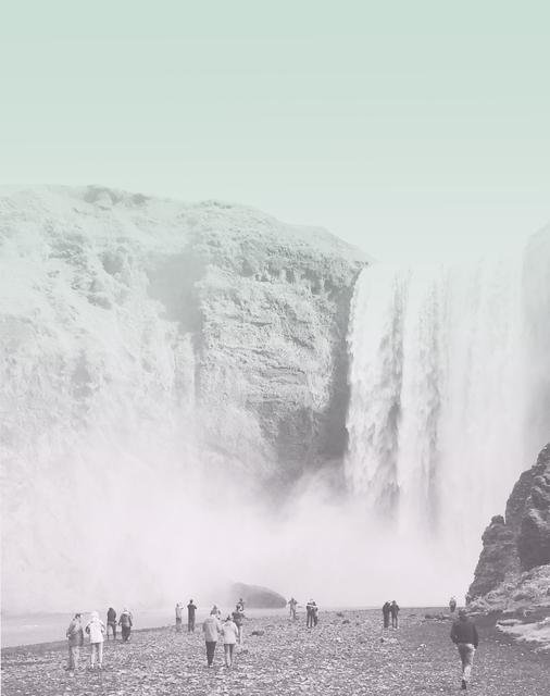 , 'Waterfall Chasers. Skógafoss,' 2016, Galería Joan Prats