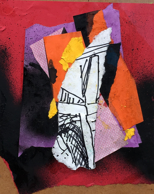 Leonard Brooks, 'Untitled', Drawing, Collage or other Work on Paper, Collage on board, Rumi Galleries