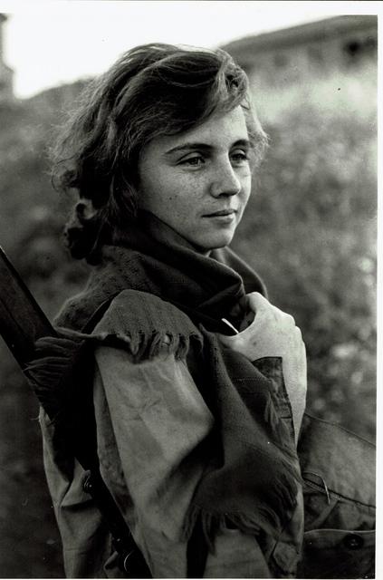 , 'vintage print/Young girl preparing for sentry duty. Israel.,' 1951, °CLAIR Galerie