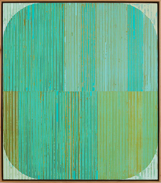 , 'Oval with Aqua,' 2016, Julie Nester Gallery