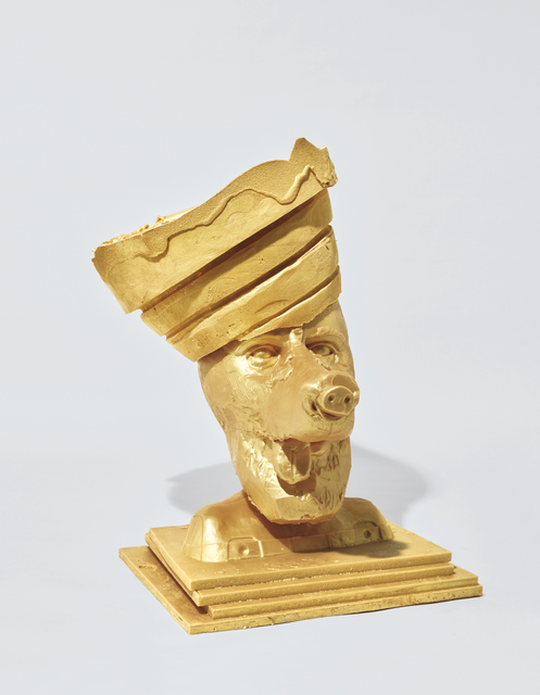 Paul McCarthy, 'Gold Butter Dog 1, Guggenheim Crown, Silicon', 2003, Phillips