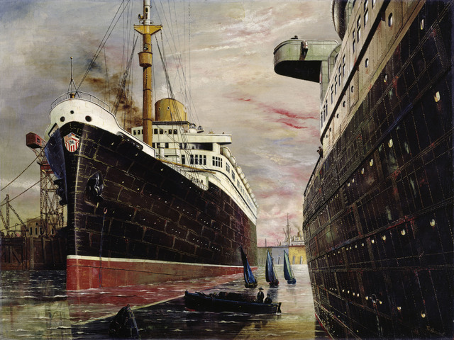 , 'The Harbor II (Der Hafen II),' 1930, Los Angeles County Museum of Art