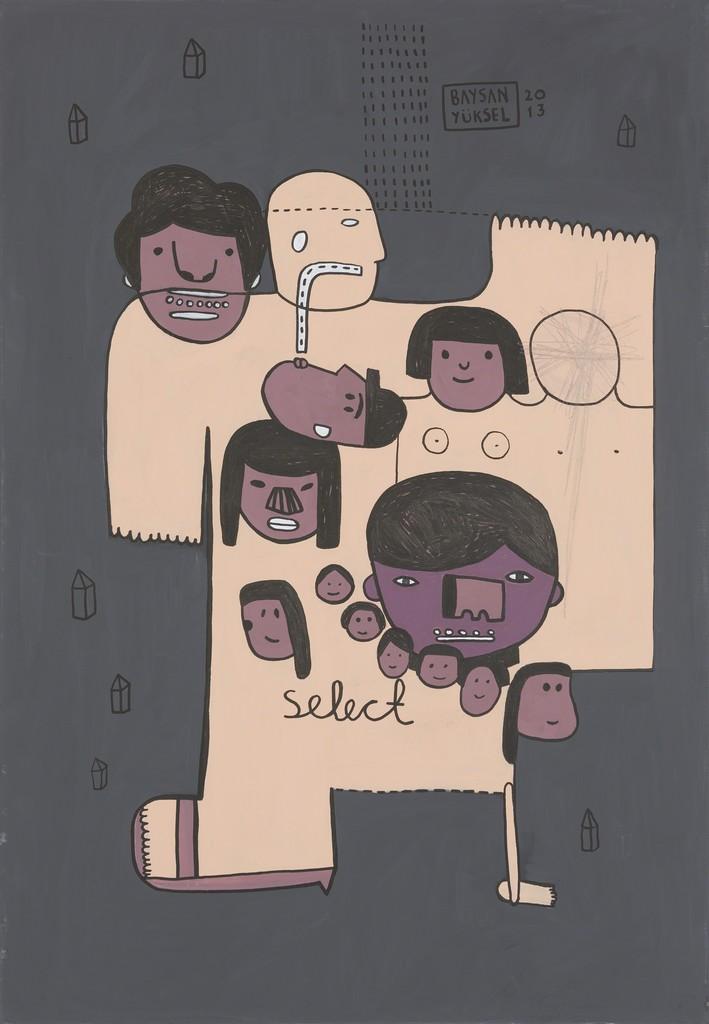 """Baysan Yüksel, '""""SELECT"""" // """"SEÇ"""",' 2013, Art Next Istanbul"""