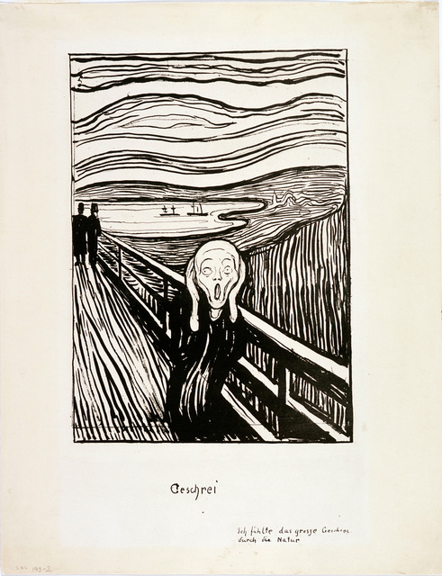 , 'The Scream,' 1895, Munch Museum