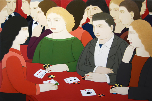 , 'Blackjack Players,' 2012, Adelson Galleries